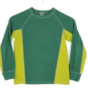 REI Boys Sweatshirt Green Chartreuse Fleece sz S